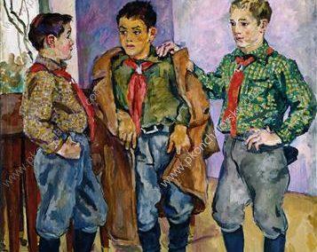 Tres niños españoles, P. Konchalovsky