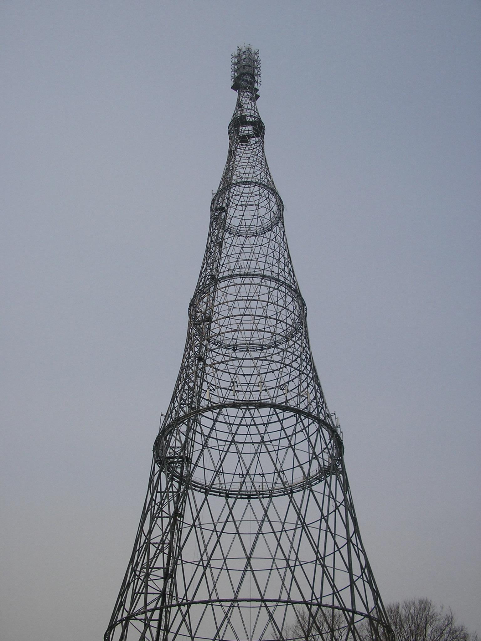 Torre de Vladimir Shukhov, 1922. Por Sergei Arsenyev, 2006.