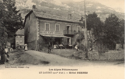 Imagen histórica del Hotel Derbet, Le Lauzet.
