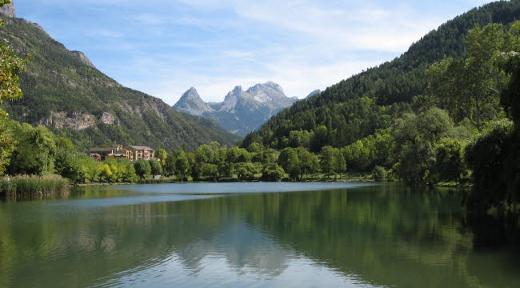 Lago de Le Lauzet en la actualidad.