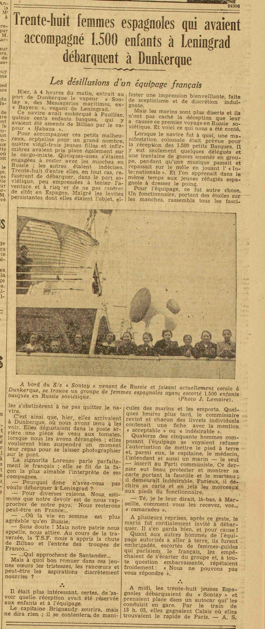 """Diario """"El Gran Eco del Norte"""", 30 de junio de 1.937"""