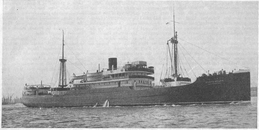 """Buque """"Kooperatzia"""" de pasajeros, construido en Leningrado."""
