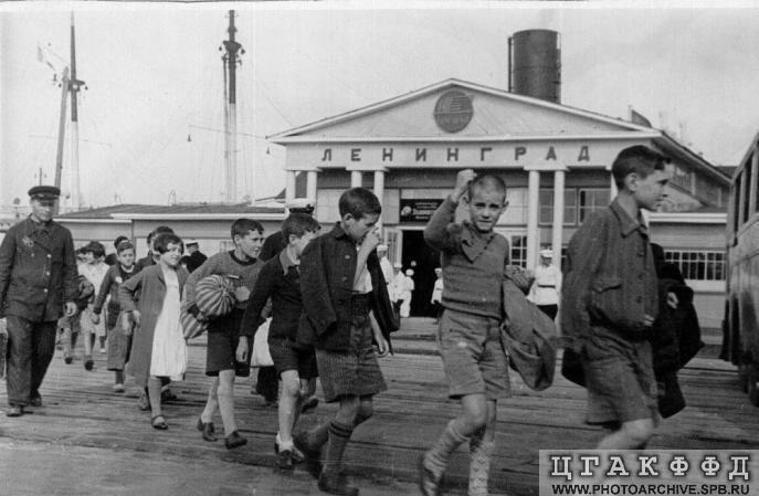 Llegada del Sontay a Leningrado, 23 de junio, 1937